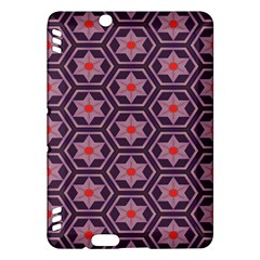 Flowers And Honeycomb Pattern			kindle Fire Hdx Hardshell Case by LalyLauraFLM
