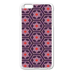 Flowers And Honeycomb Pattern			apple Iphone 6 Plus/6s Plus Enamel White Case by LalyLauraFLM