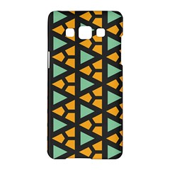 Green Triangles And Other Shapes Patternsamsung Galaxy A5 Hardshell Case by LalyLauraFLM