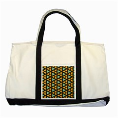 Green Triangles And Other Shapes Pattern two Tone Tote Bag by LalyLauraFLM
