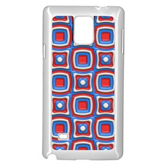 3d Squaressamsung Galaxy Note 4 Case (white) by LalyLauraFLM