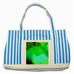 Angels 1 Striped Blue Tote Bag  by timelessartoncanvas
