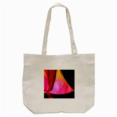 Pink Angel Tote Bag (cream)  by timelessartoncanvas