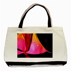 Pink Angel Basic Tote Bag (two Sides)  by timelessartoncanvas