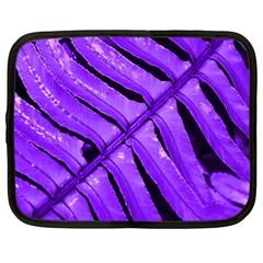 Purple Fern Netbook Case (xl)  by timelessartoncanvas