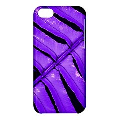 Purple Fern Apple Iphone 5c Hardshell Case by timelessartoncanvas