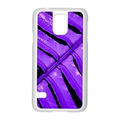 Purple Fern Samsung Galaxy S5 Case (white) by timelessartoncanvas