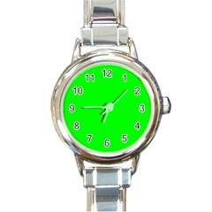 Cool Green Round Italian Charm Watches by Costasonlineshop