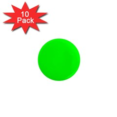 Cool Green 1  Mini Magnet (10 Pack)  by Costasonlineshop