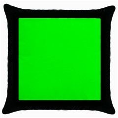 Cool Green Throw Pillow Cases (black) by Costasonlineshop