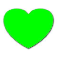Cool Green Heart Mousepads by Costasonlineshop
