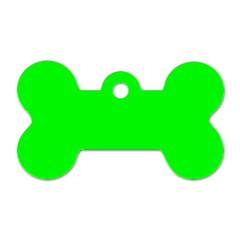 Cool Green Dog Tag Bone (one Side) by Costasonlineshop