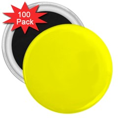 Beautiful Yellow 3  Magnets (100 Pack) by Costasonlineshop