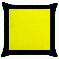 Beautiful Yellow Throw Pillow Cases (Black) by Costasonlineshop