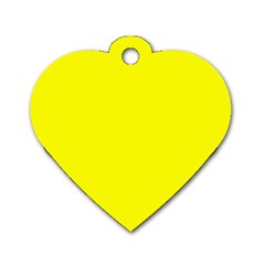 Beautiful Yellow Dog Tag Heart (one Side) by Costasonlineshop