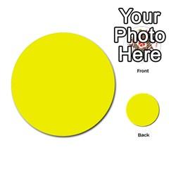 Beautiful Yellow Multi Purpose Cards (round)  by Costasonlineshop