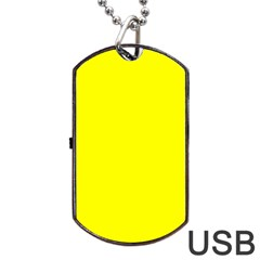 Beautiful Yellow Dog Tag Usb Flash (one Side) by Costasonlineshop