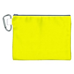 Beautiful Yellow Canvas Cosmetic Bag (xxl)  by Costasonlineshop
