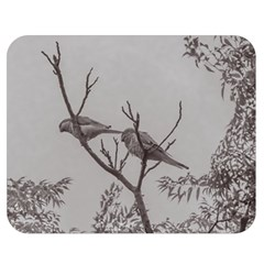 Couple Of Parrots In The Top Of A Tree Double Sided Flano Blanket (medium)  by dflcprints