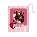 mothers day - Drawstring Pouch (Large)