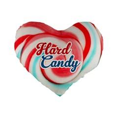 Candy Standard 16  Premium Flano Heart Shape Cushion  by typewriter