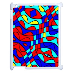 Colorful Bent Shapesapple Ipad 2 Case (white) by LalyLauraFLM