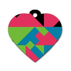 Angles dog Tag Heart (one Side) by LalyLauraFLM