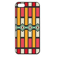 Rhombus And Stripes Pattern			apple Iphone 5 Seamless Case (black) by LalyLauraFLM