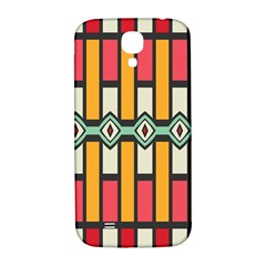 Rhombus And Stripes Pattern			samsung Galaxy S4 I9500/i9505 Hardshell Back Case by LalyLauraFLM