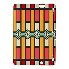 Rhombus And Stripes Pattern			kindle Fire Hdx 8 9  Hardshell Case by LalyLauraFLM