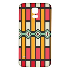 Rhombus And Stripes Patternsamsung Galaxy S5 Back Case (white) by LalyLauraFLM