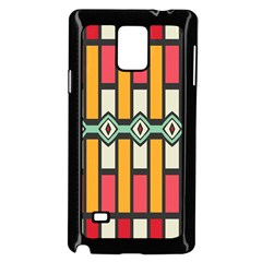 Rhombus And Stripes Patternsamsung Galaxy Note 4 Case (black) by LalyLauraFLM