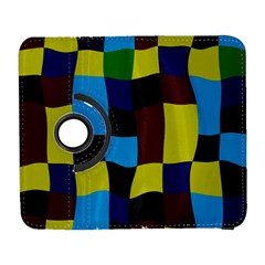 Distorted Squares In Retro Colors			samsung Galaxy S Iii Flip 360 Case by LalyLauraFLM