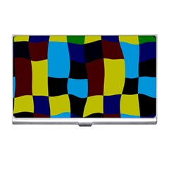 Distorted Squares In Retro Colors 			business Card Holder by LalyLauraFLM