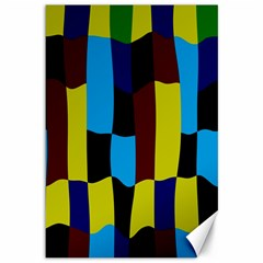 Distorted Squares In Retro Colors canvas 12  X 18  by LalyLauraFLM