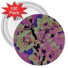 Floral Art Studio 12216 3  Buttons (100 Pack)  by MoreColorsinLife