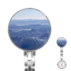Window Plane View Of Andes Mountains Stainless Steel Nurses Watches by dflcprints