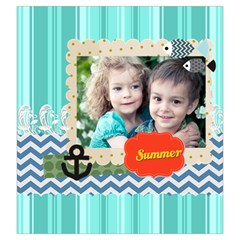 Summer By Summer Time    Drawstring Pouch (large)   4rk97y2doxpm   Www Artscow Com Back