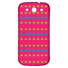 Hearts And Rhombus Patternsamsung Galaxy S3 S Iii Classic Hardshell Back Case by LalyLauraFLM