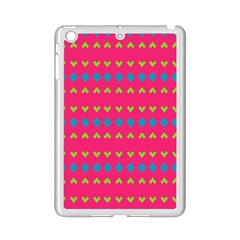 Hearts And Rhombus Pattern			apple Ipad Mini 2 Case (white) by LalyLauraFLM