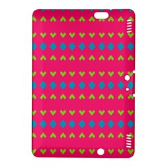 Hearts And Rhombus Patternkindle Fire Hdx 8 9  Hardshell Case by LalyLauraFLM