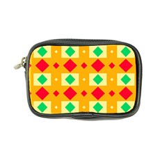 Green Red Yellow Rhombus Pattern 	coin Purse by LalyLauraFLM