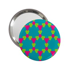 Triangles Honeycombs And Other Shapes Pattern 2 25  Handbag Mirror by LalyLauraFLM