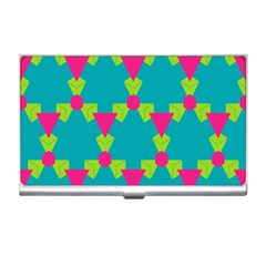 Triangles Honeycombs And Other Shapes Pattern 			business Card Holder by LalyLauraFLM