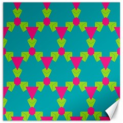 Triangles Honeycombs And Other Shapes Pattern 			canvas 12  X 12  by LalyLauraFLM