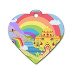 Rain Bow Dog Tag Heart (Two Sided)
