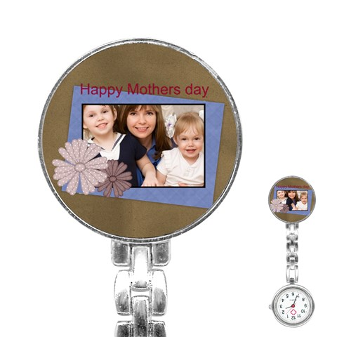 Mothers Day By Mom   Stainless Steel Nurses Watch   8rsmb00ijf38   Www Artscow Com Front