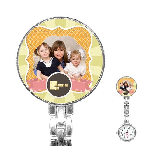 Mothers Day By Mom   Stainless Steel Nurses Watch   H37rfgbwuekd   Www Artscow Com Front