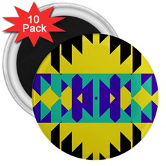 Tribal Design 			3  Magnet (10 Pack) by LalyLauraFLM