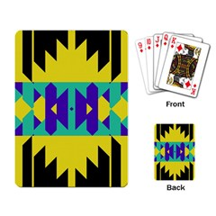 Tribal Design 			playing Cards Single Design by LalyLauraFLM